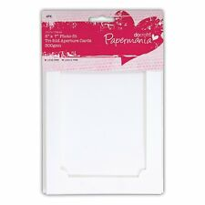 "Papermania 7"" x 5"" Photo-Fit Tri Fold Aperture Cards & Envelopes Pack of 4 WHITE"