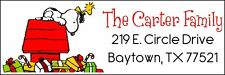 SNOOPY & WOODSTOCK CHRISTMAS - Return Address Label