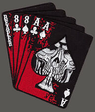 REAPER DEAD MAN'S HAND ACES REAPER SKULL SPADE IRON ON MC PATCH