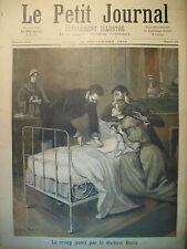MEDECINE GUERISON DU CROUP LE DOCTEUR ROUX MORT DE BARA LE PETIT JOURNAL 1894