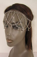 New Women Multi Strands Bells Beads Silver Metal Fore Head Chain Fashion Jewelry
