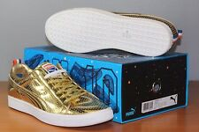 Puma UNDFTD Clyde Gametime 24k Metallic Gold Sz 14 DS