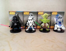 4Pc STAR WARS DARTH VADER YODA R2-D2 STORMTROOPER ACTION FIGURES TOY CAKE TOPPER