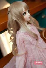 BJD Doll Hair Wig 7-8 inch 18-20cm Brown 1/4 SD DZ DOD LUTS Perma-long plaits