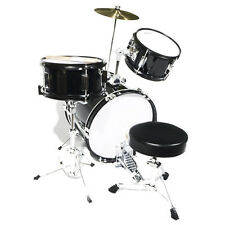 "Mendini 16"" Junior Kids Child Jr. Drum Set Kit ~Black"