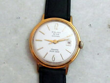 POLJOT de LUXE gold plated AUTOMATIC USSR vintage men's mechanical wristwatch