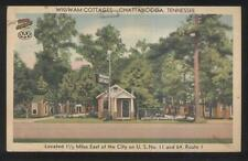 Postcard CHATTANOOGA Tennessee/TN  Wigwam Tourist Motor Court Cottages 1930's