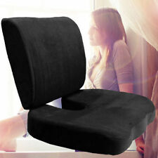 Memory Foam Coccyx Orthoped Seat Cushion Back Support Lumbar Relief Pillow BLACK