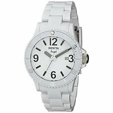Invicta Women's 1207 Angel White Plastic Watch with Link Bracelet