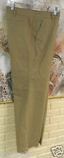 NWT LANDS END WARM WEEKEND CHINO PANTS SZ 12 WALNUT TAN FRONT & REAR POCKETS