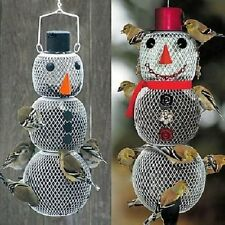 NO NO MR. AND MRS. SNOWMAN BIRD FEEDERS DECORATIVE WINTER CHRISTMAS BIRD FEEDERS