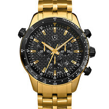 Motorsport Chrono Edition Gold Armbanduhr Chronograph Original Mercedes-Benz NEU