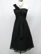 Cherlone Plus Size Chiffon Black Prom Ball Evening Formal Bridesmaid Dress 18-20