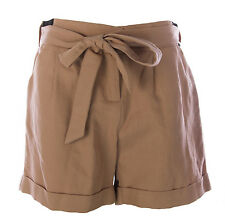 TOPSHOP MATERNITY Women's Dusty Rose Belted Shorts w/Pockets 44F05Y US Sz 4 NEW