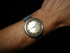Vint. WORKING Longines 5 Star Admiral Automatic Men's STAINLESS STEEL wristwatch