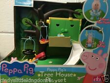 New Peppa Pig tree house playset toy & figure play swing and slide damaged box