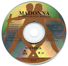 Madonna NOTHING REALLY MATTERS (Original Promo CD Single) (1998) RARE