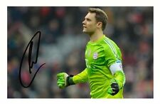 MANUEL NEUER - BAYERN MUNICH AUTOGRAPHED SIGNED A4 PP POSTER PHOTO