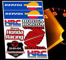 SET MOTORRAD AUFKLEBER HONDA SPONSOR REPSOL STICKERS MOTORSPORT