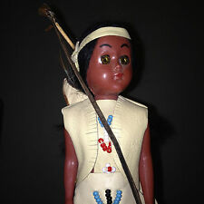 Vintage INDIAN DOLL Designed by Deerfoot & Brown Eagle Indian Family HANDICRAFTS