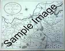 Map of the Environs of Stockport 1800 - Bredbury Cheadle Bramhall Marple - Print