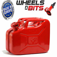 RED 10L Litre JERRY MILITARY CAN FUEL OIL WATER KEROSENE WATER WITH SPOUT