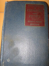 1959-60 Book HANDBOOK OFCHEMISTRY AND PHYSICS 41st chemical physical data refere