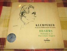 KLEMPERER PHILHARMONIA – BRAHMS SINFONIA No.2 OUVERTURE TRAGICA LP