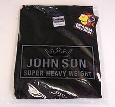 BLACK JohnSon Heavy Weight Cotton 3XL TALL Crew Neck T-Shirt Piranha Records