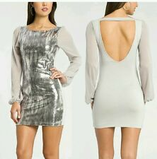 GUESS BY MARCIANO EXCLUSIVE FREJA GREY SEQUIN MINI DRESS
