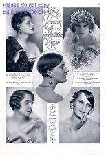 Neue Frisuren XL Seite von 1925 mit Fotoabbildungen 20er Jahre Frisör Haar Braut