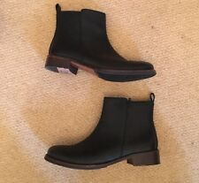 Clarks Timing Star Leather Ankle Boots. 6.5 Black