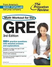 THE PRINCETON REVIEW MATH WORKOUT FOR THE GRE (978 - DOUG FRENCH (PAPERBACK) NEW