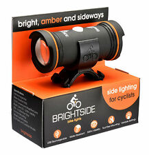 Brightside Bike Light. Side Facing Amber USB bicycle Bike Light. Be seen side on