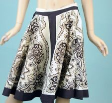 TWENTY ONE Brown Floral Swing mid casual summer day skirt Sz S