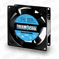 FAN AXIAL THERMOCOOL (92X92X25mm) 28/34 CFM SLEEVE 110V 60Hz #G9225HAS