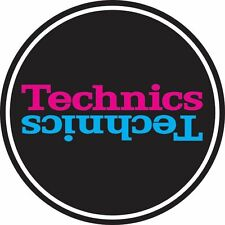 Technics 60660 PAIR Slipmat Duplex 5 Pink/Blue Mirror on Black / Brand New