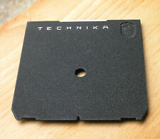 genuine  Linhof 5x4  Technika   Lens board panel  with small low offset 8mm hole