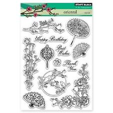 PENNY BLACK RUBBER STAMPS CLEAR ORIENTAL NEW STAMP SET