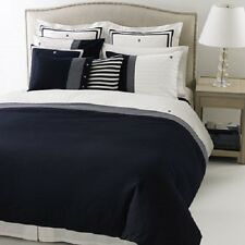 Tommy Hilfiger Bedding Williamstown Twin Sheet Set White/Navy MSRP $120