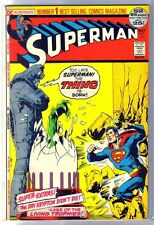 SUPERMAN #251 The Thing is Born! DC 52 Page Comic Book ~ FN
