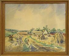 WILLY BILLE 1889-1944 »ERNTEZEIT AUF DEM LAND · SOMMERZEIT« AQUARELL
