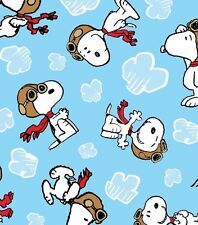 Peanuts Snoopy Flying Ace Allover 59-inch Fleece Fabric by the YARD