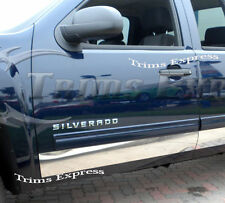 2007-2013 Chevy Silverado Crew Cab Dually 8' Long Bed Rocker Panel Trim-12pc 6""