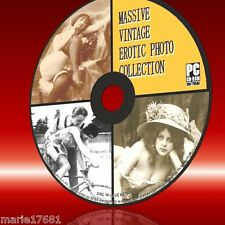 20000 VINTAGE EROTIC ART PHOTO/IMAGES ARCHIVE PC CD SEMI NUDE RISQUE TITILLATING
