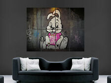 BANKSY GRAFFITI POSTER BUNNY PRINT ART WALL PICTURE  GIANT HUGE