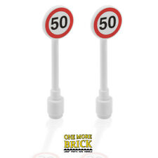Lego Speed Limit Road Signs x2 - Traffic Speed CITY signpost - NOT stickers