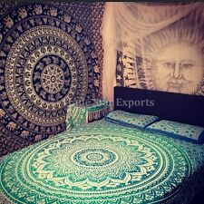 Ombre Mandala Wall Hanging Gypsy Indian Tapestry Bohemian Dorm Decor Hippie Art