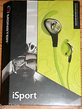 MONSTER ISPORT INTENSITY HEADPHONES GREEN - NEW