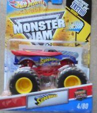 New Mattel Hot Wheels Superman Monster Jam Truck 1/64 Superman Hot Wheels